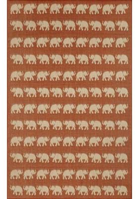 Trans Ocean Elephants 176774 Terracotta