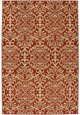 American Rug Craftsmen Watson Scroll 90446 Russet Brown 35008