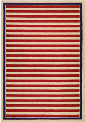 Couristan 3126 Nautical Stripes 0260 Red Navy