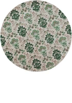 KAS Damask 9038 Ivory Green