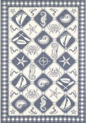 KAS Nautical Panel 1807 Blue Ivory