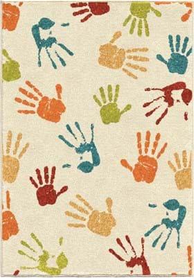 Orian Rugs Handprint 3111 Ivory