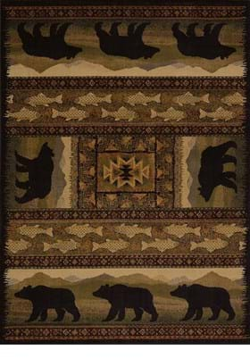 United Weavers 750-01943 Black Bears Black