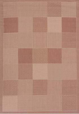 United Weavers 101-40129 Patio Block Terracotta