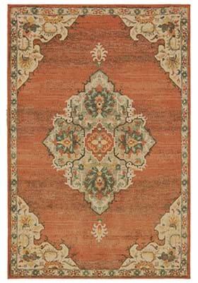Oriental Weavers 9568 B Orange Gray