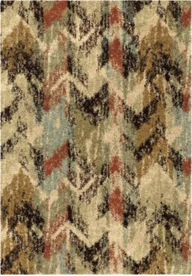 Orian Rugs Distressed Chevron 1688 Multi