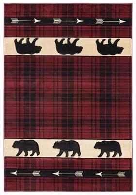 United Weavers 2055-41434 Tartan Bear Burgundy